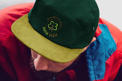 Mütze mit BaumBuam Logo Sticker